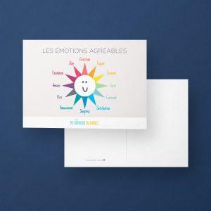 Carte postale : les émotions agréables