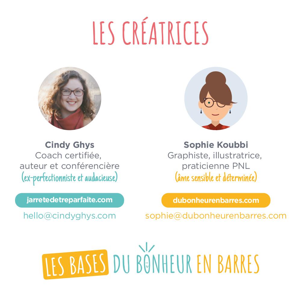 Créatrices les Bases du Bonheur en Barres