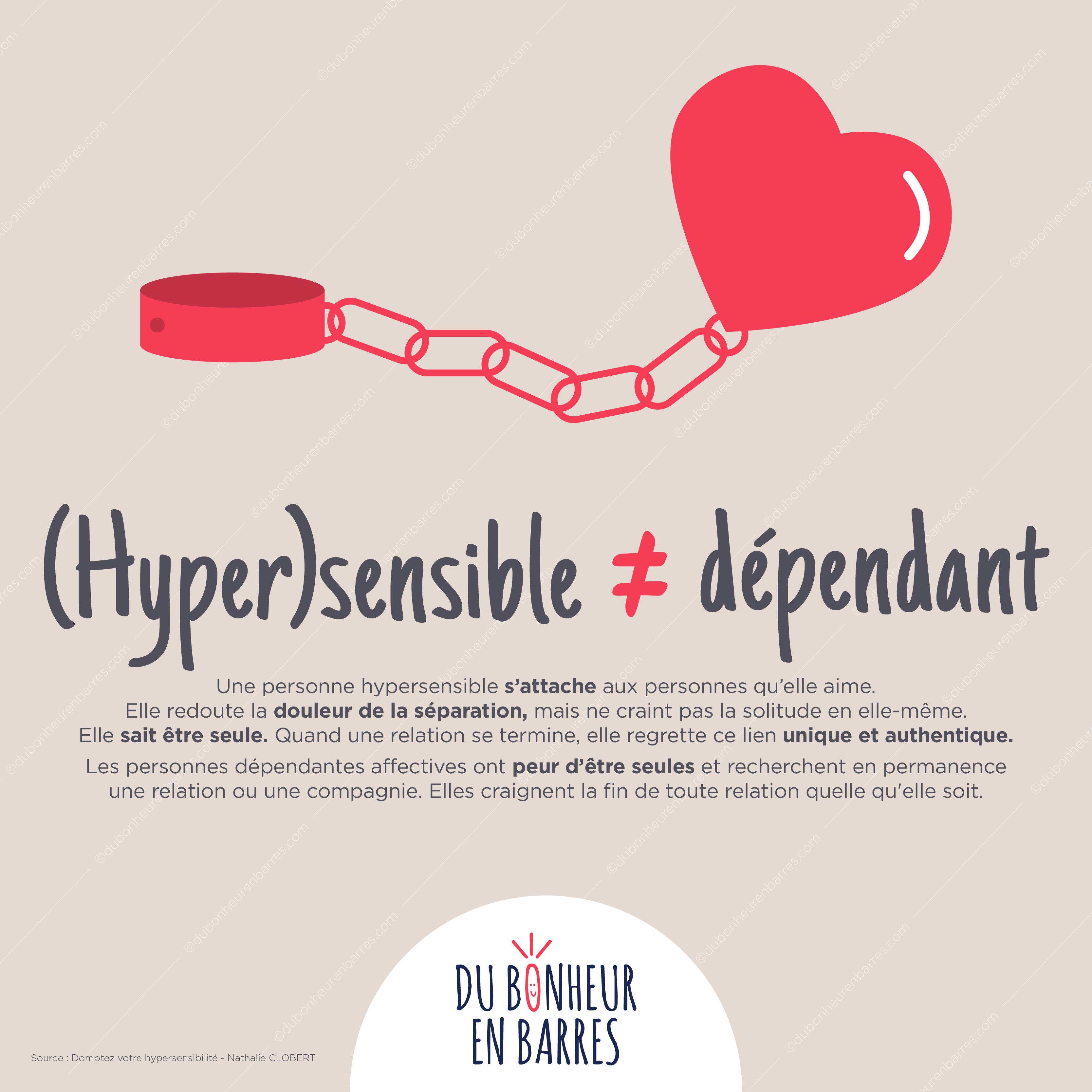 Différence entre hypersensible et dépendant