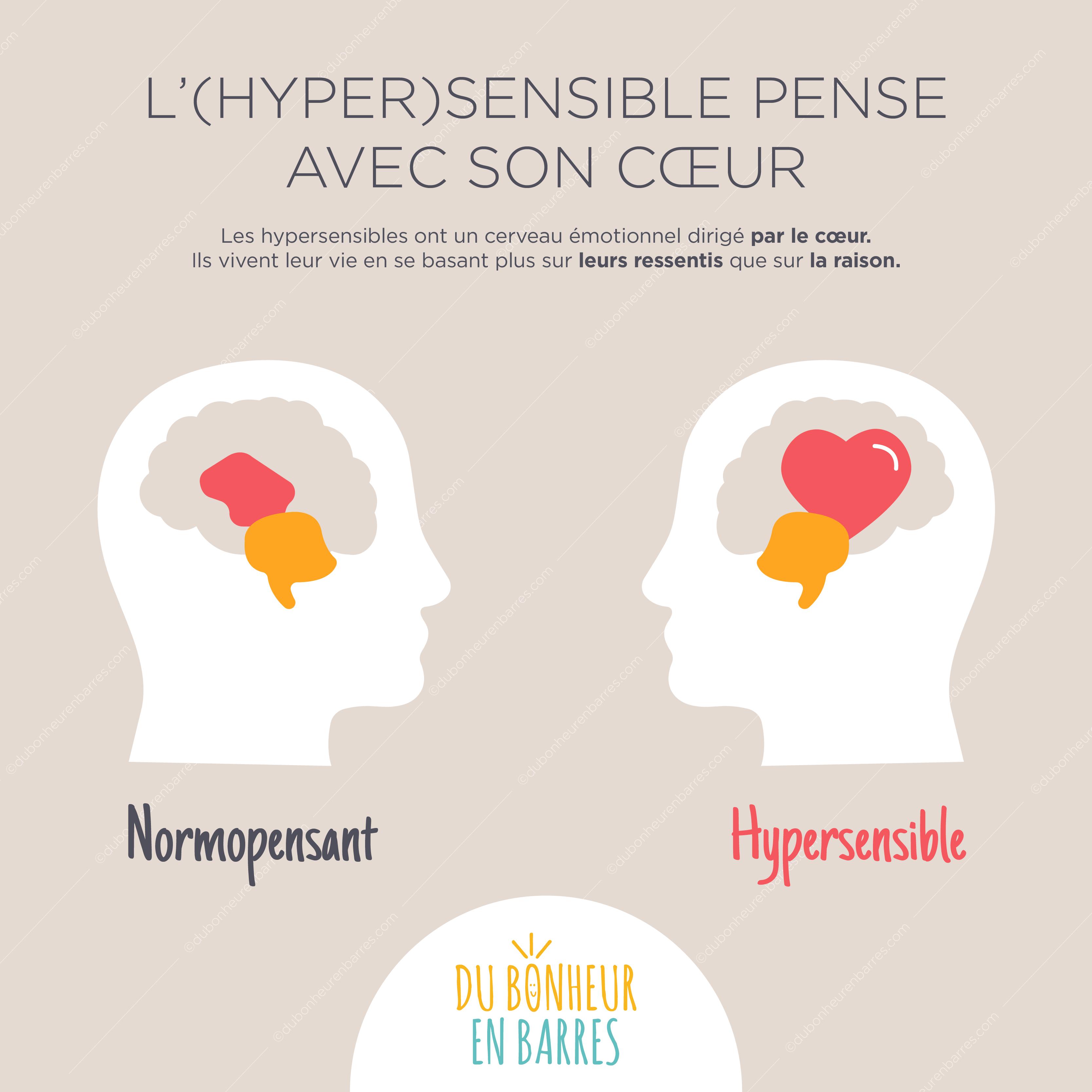 L'hypersensible pense avec son coeur