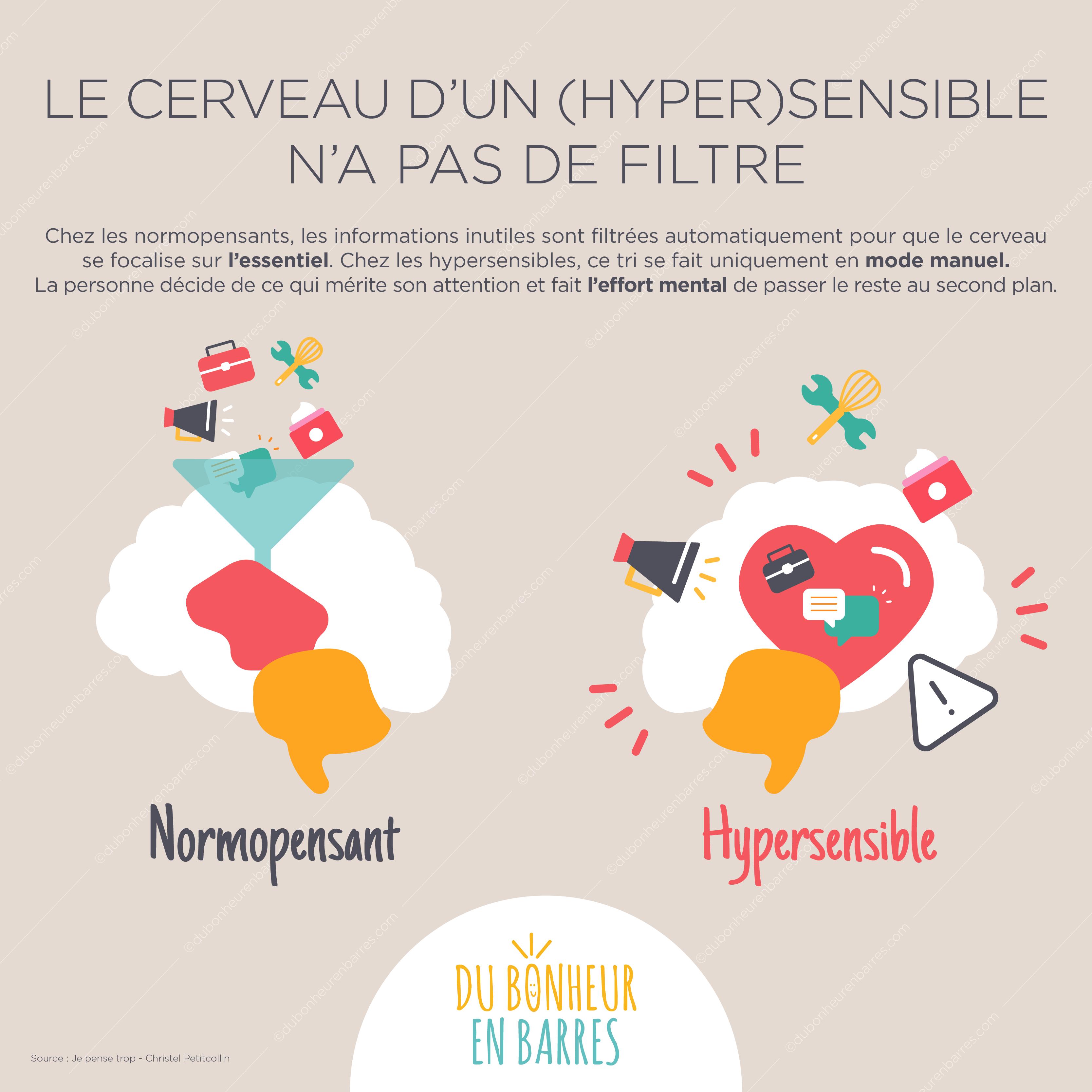 Le cerveau d'un hypersensible n'a pas de filtre