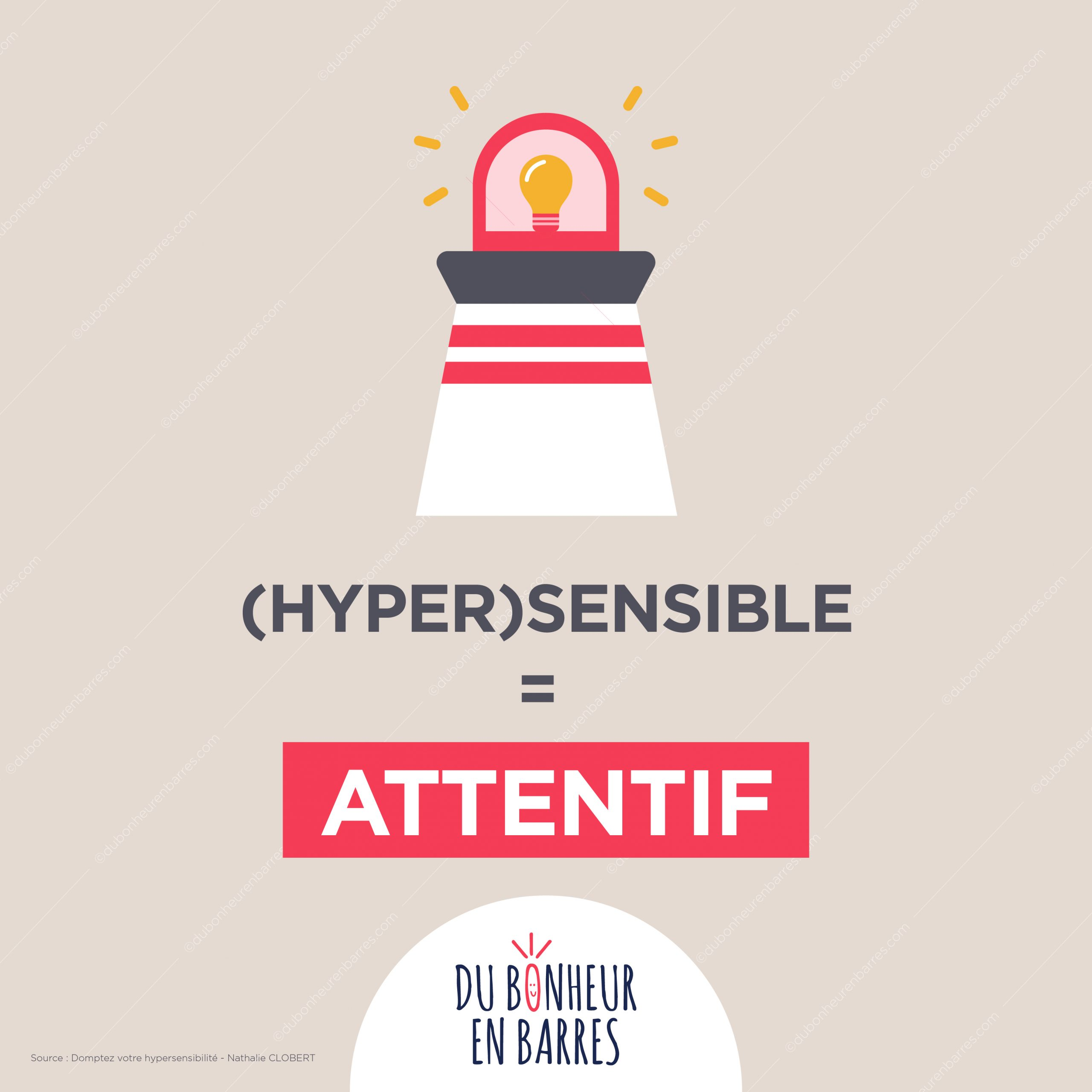 Hypersensible = attentif