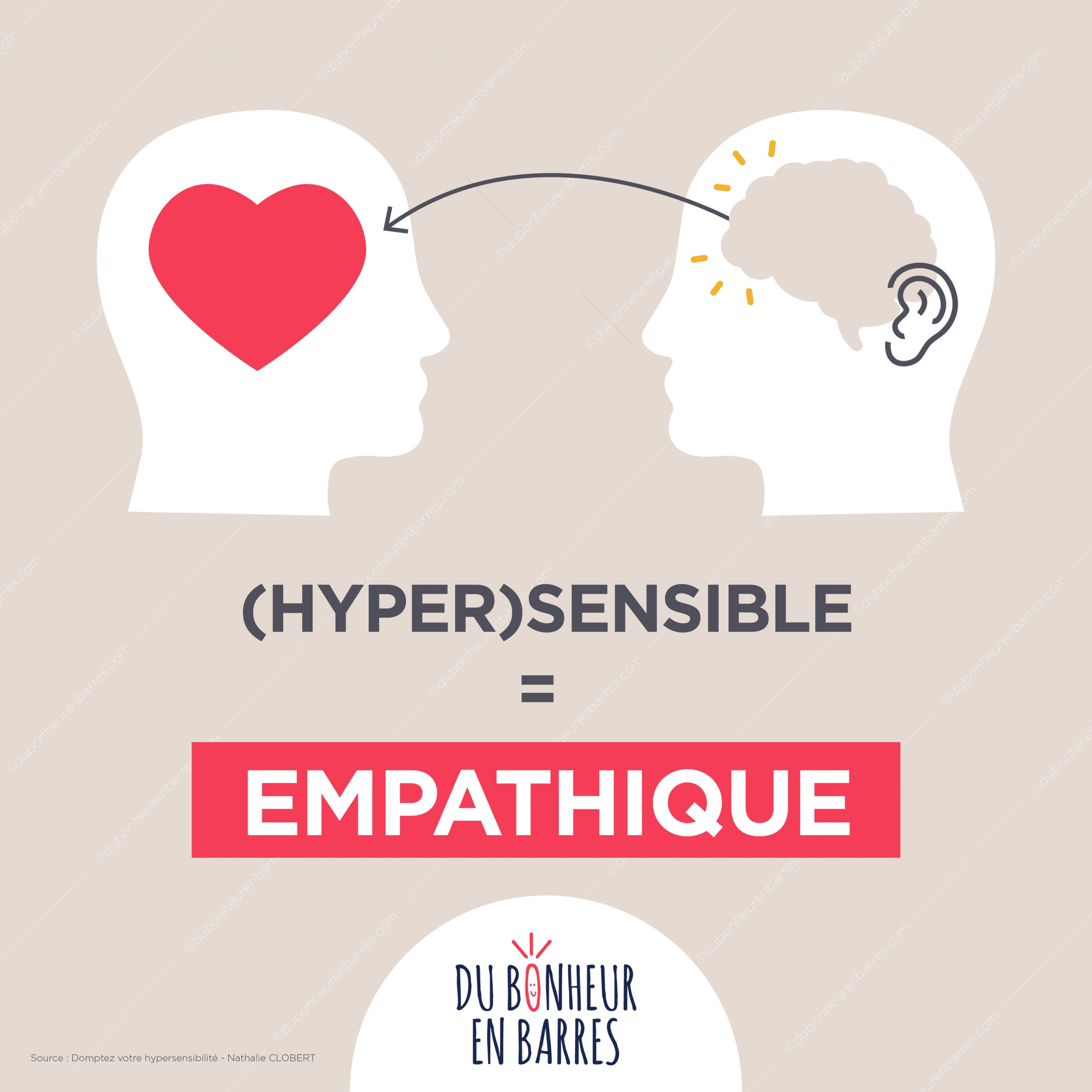 Hypersensible = empathique