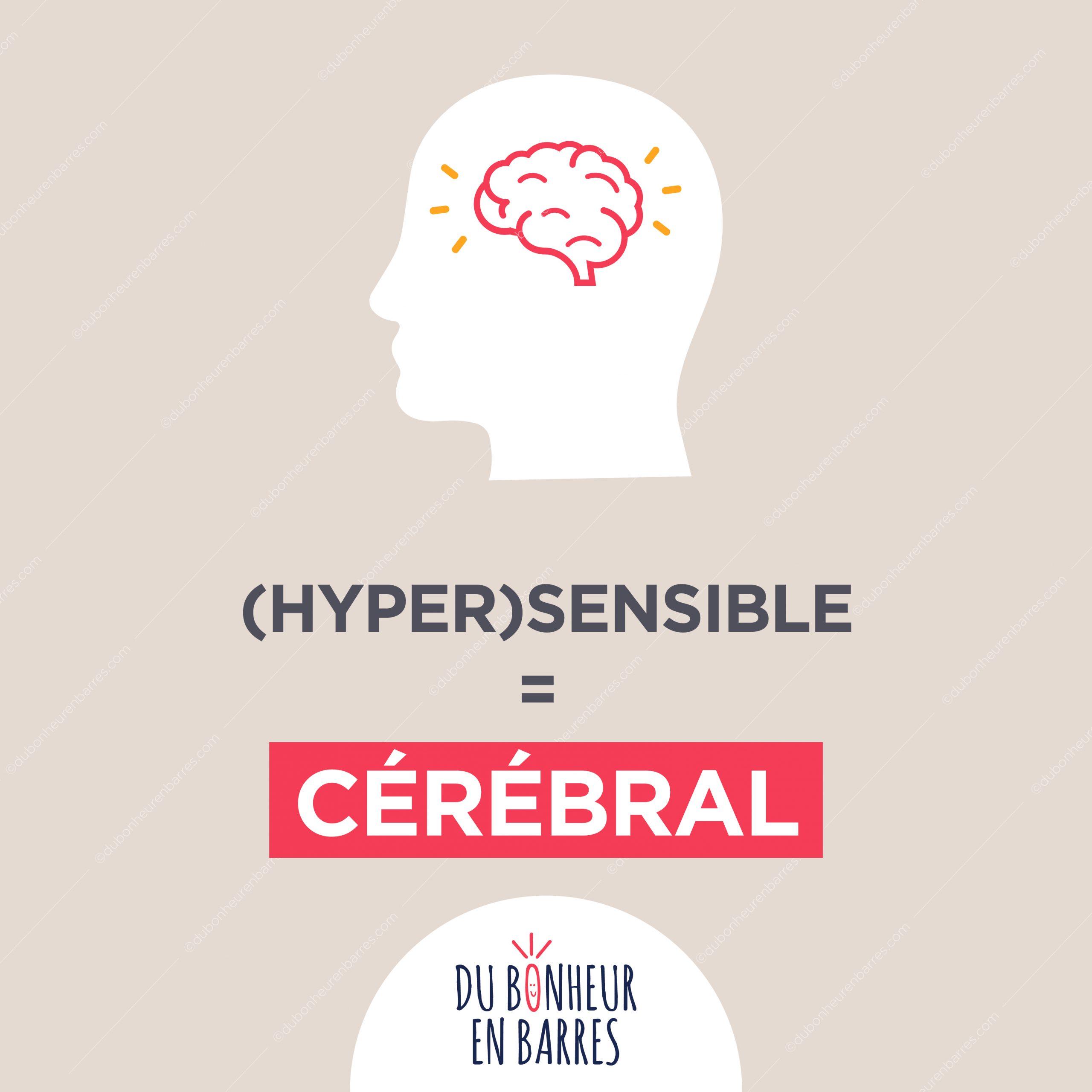 Hypersensible = cérébral