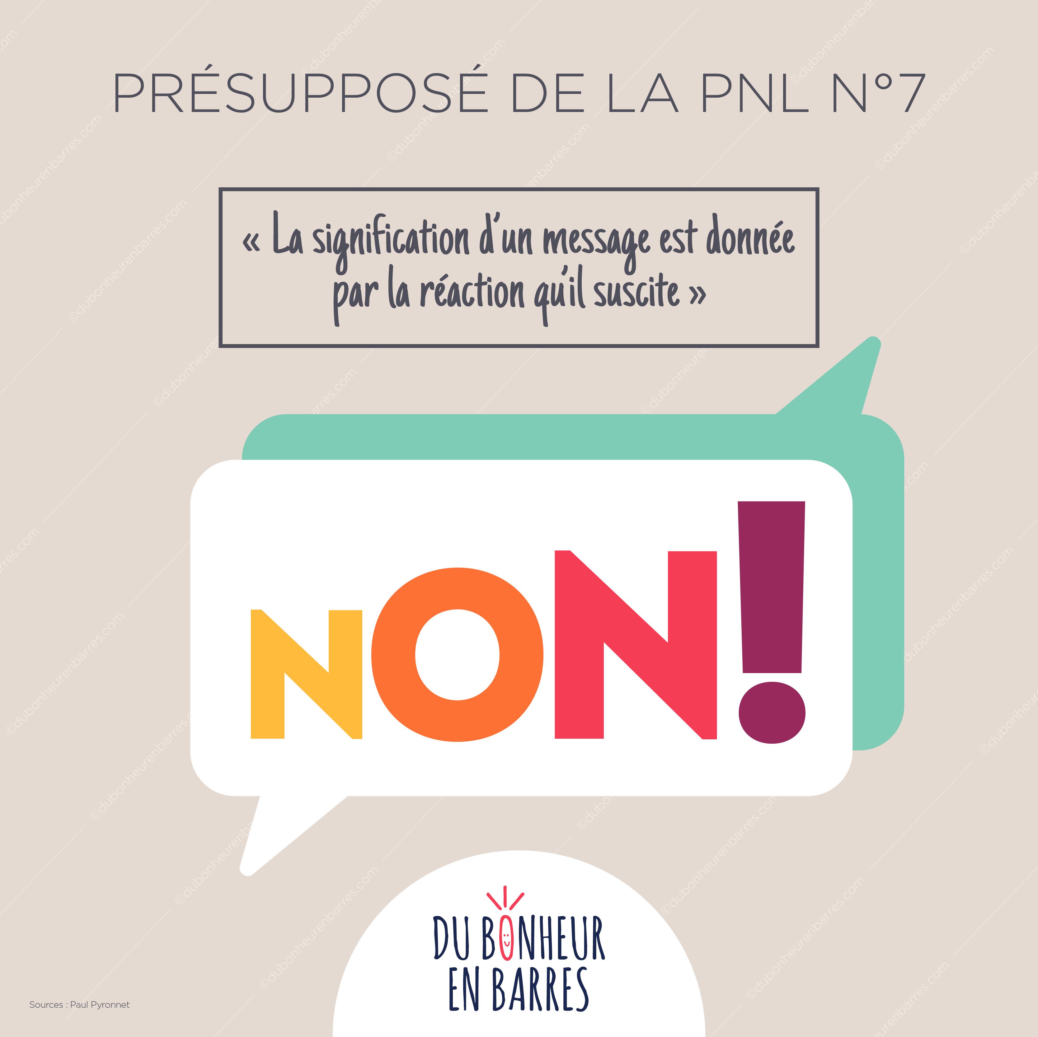 Présupposé de la PNL N°7